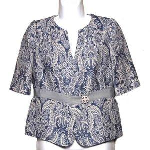 Armani Collezioni Linen Cotton Jacket Size 8